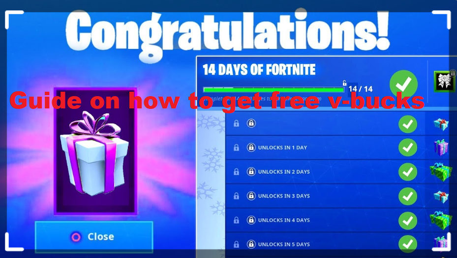 Guide on how to get free v-bucks