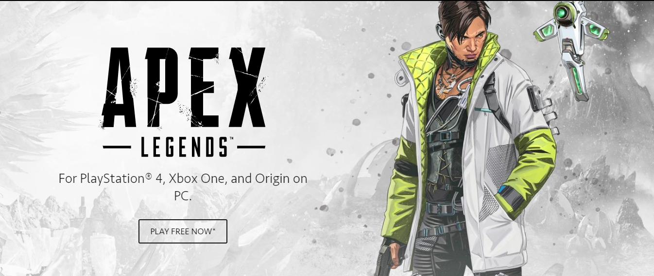 Apex legends For PlayStation4, Xbox One, and Origin on PC