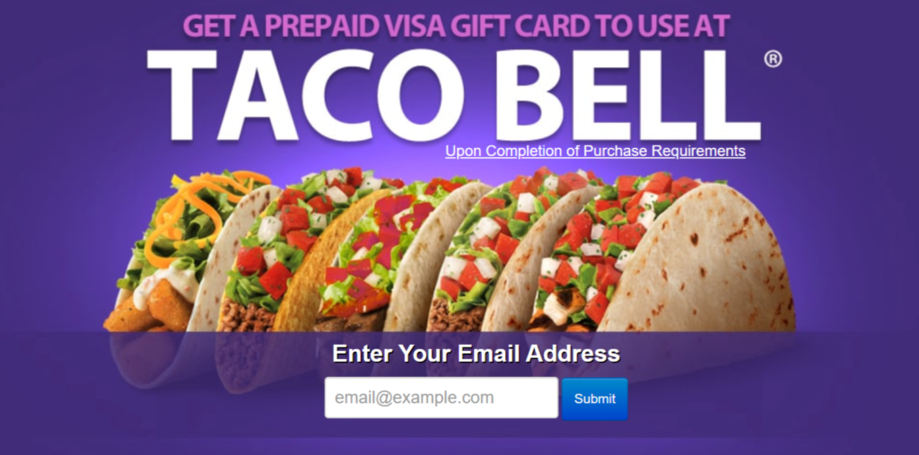 Get Free Taco Bell Gift Card